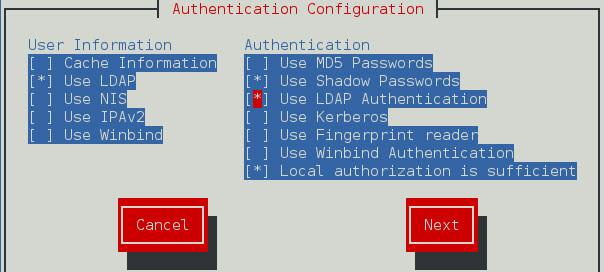 LDAP client configuration autofs home directories