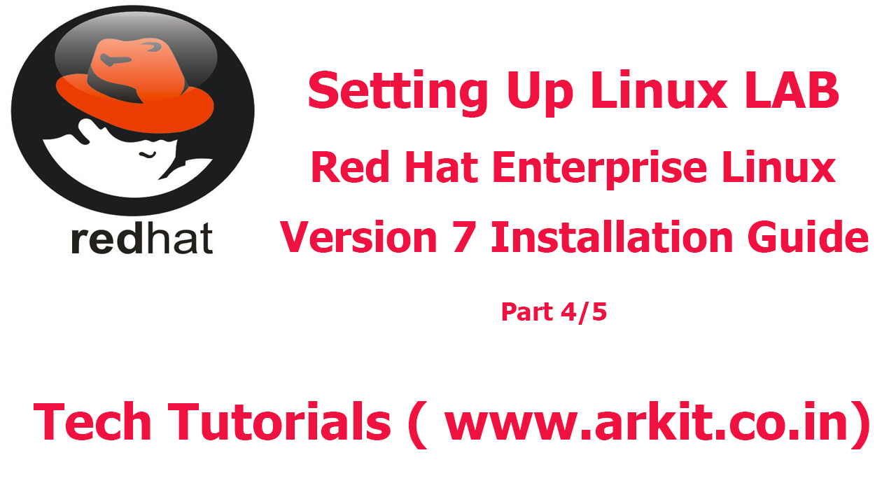 Setting up linux lab red hat enterprise linux 7 installation arkit baditri Gallery