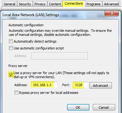 squid proxy server installation and configuration RHEL 7 Centos7