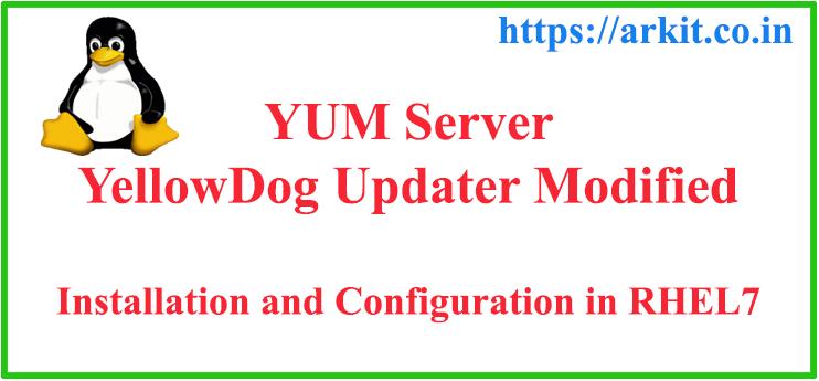 YUM (YellowDog Updater Module) Local installation and configuration